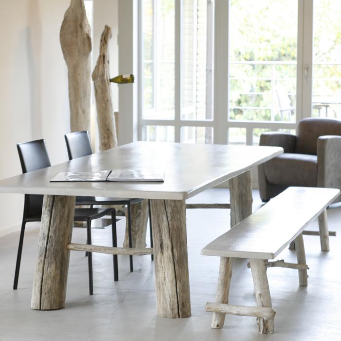 Nature pin tous les objets de d coration sur elle maison for Plan de table bois flotte