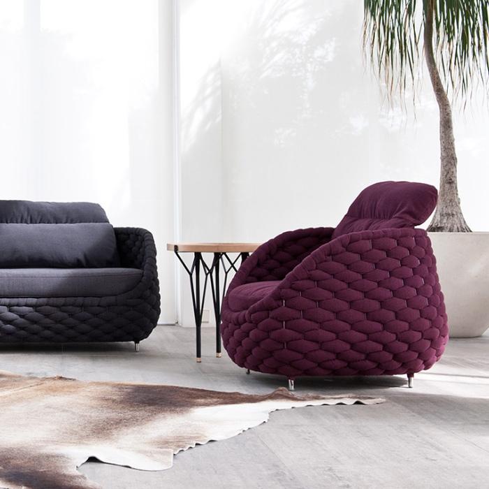 Missoni Home Cordula Easy Chair: RAPUNZEL Chair & Ottoman