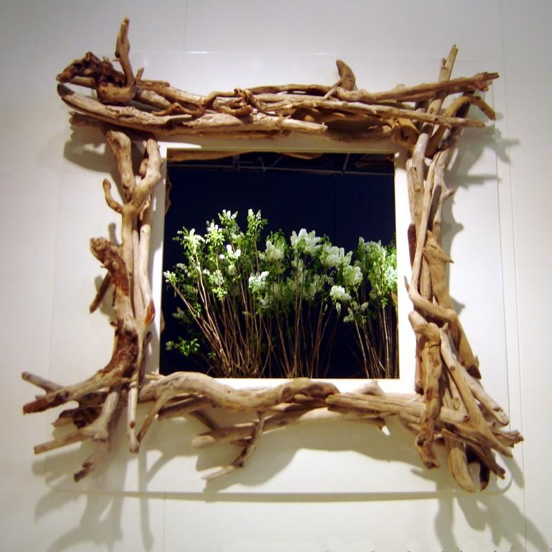 Miroirs m tal tous les objets de d coration sur elle maison - Encadrement bois pour miroir ...