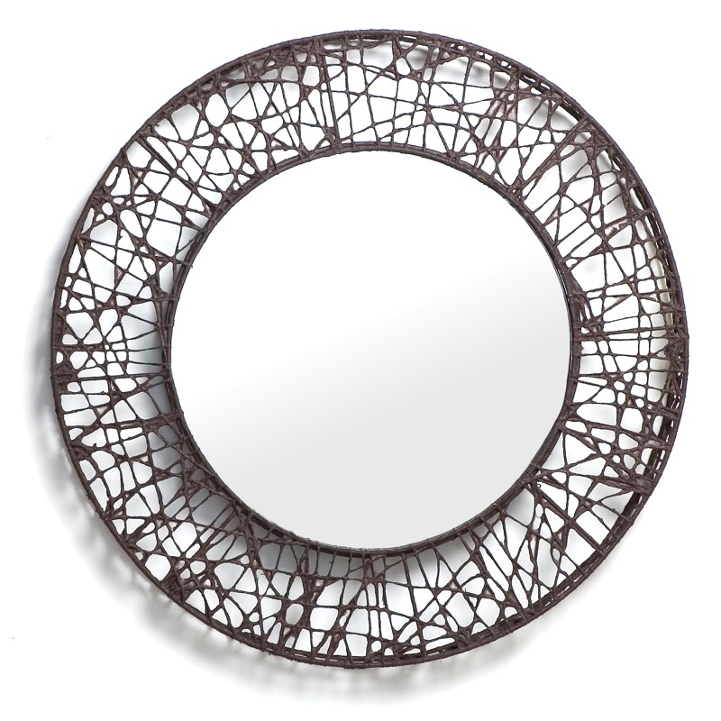 Cu c me miroir rond de kenneth cobonpue for Miroir design rond