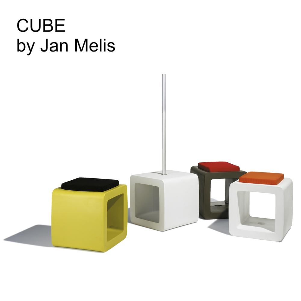 Parasolvoet en poef cube - Cube nachtkastje ...