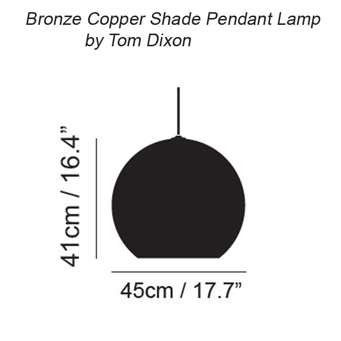 Bronze copper shade hanglamp tom dixon - Tom dixon catalogus ...